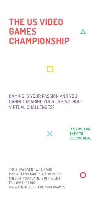 Plantilla de diseño de Video Games Championship announcement Graphic