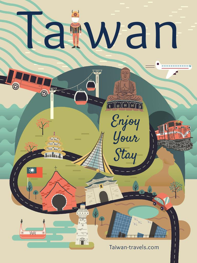 Taiwan Famous Travelling Spot — Створити дизайн
