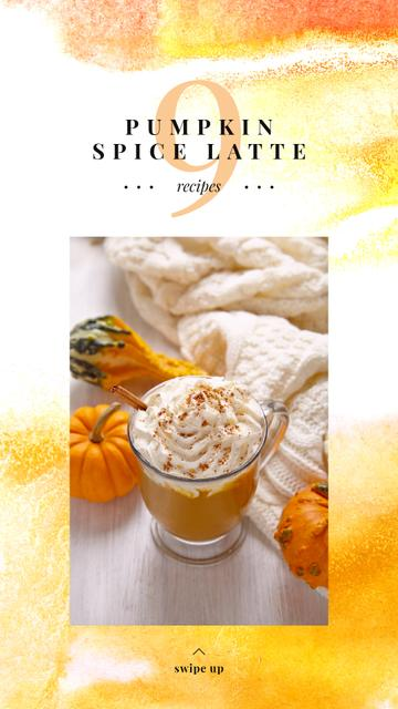 Pumpkin spice latte on Thanksgiving Instagram Story Modelo de Design