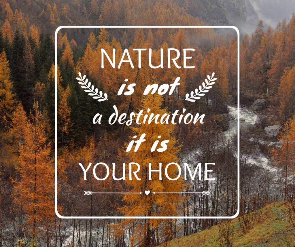 Nature Quote with Scenic Autumn forest — Create a Design