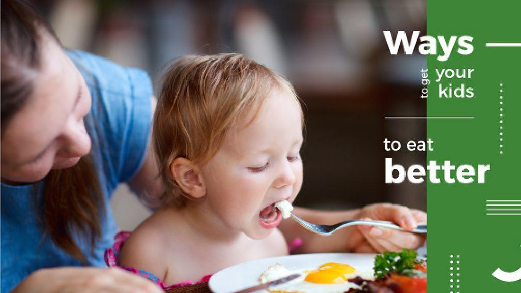 Mother feeding child — Maak een ontwerp