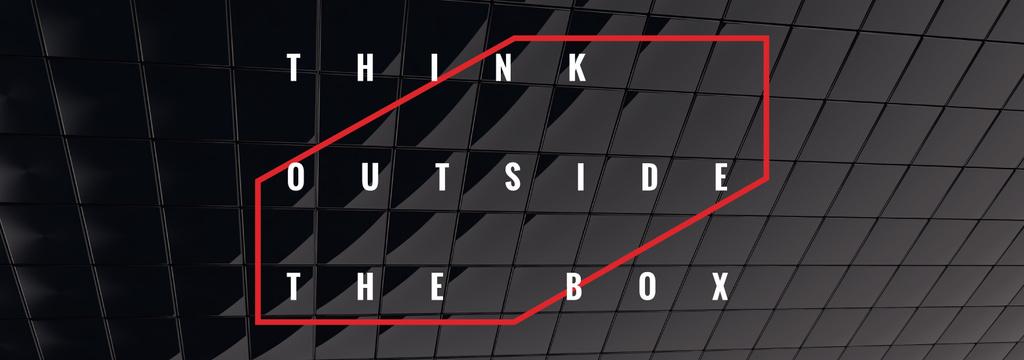Think outside the box Quote on black tiles — Crear un diseño