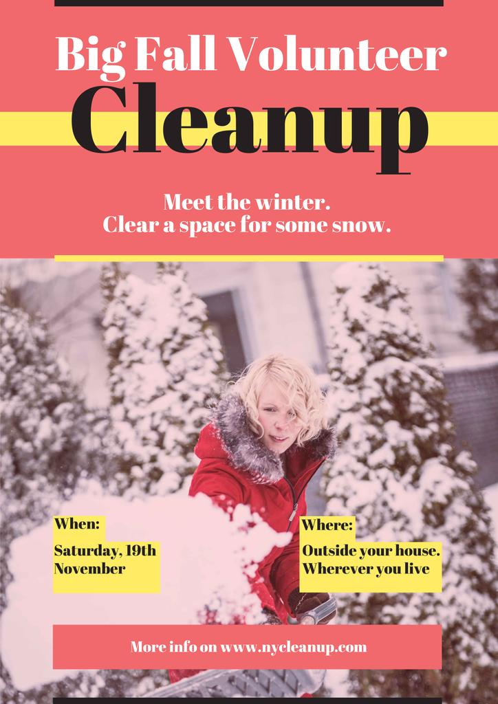 Winter Volunteer clean up — Create a Design