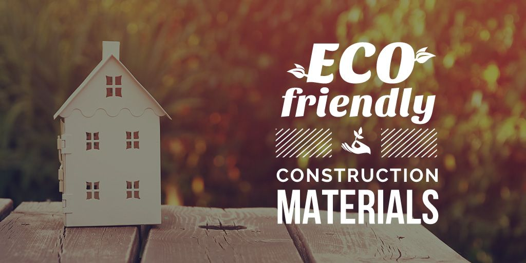 poster for construction shop with eco friendly materials  — Створити дизайн