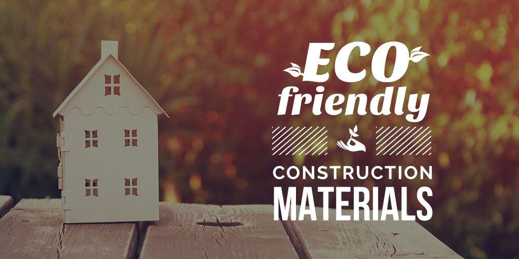 Construction shop with eco friendly materials — Créer un visuel