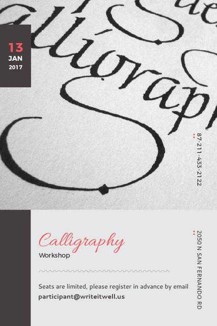 Calligraphy Workshop Announcement Decorative Letters Tumblr Design Template