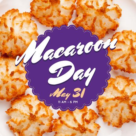Sweet macaroon cookies Day Instagram Design Template