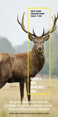 Plantilla de diseño de Eco Event announcement with Wild Deer Graphic
