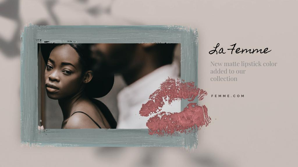 Lipstick Print on Photo of Young Couple | Full Hd Video Template — ein Design erstellen