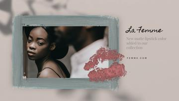 Lipstick Print on Photo of Young Couple | Full Hd Video Template