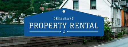 Ontwerpsjabloon van Facebook cover van Property Rental services