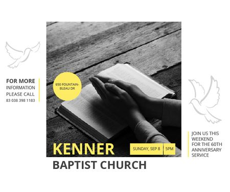 Kenner Baptist Church  Large Rectangle – шаблон для дизайну