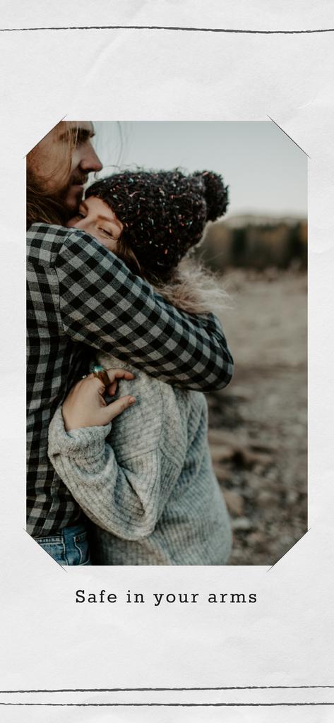 Loving Couple hugging — Створити дизайн