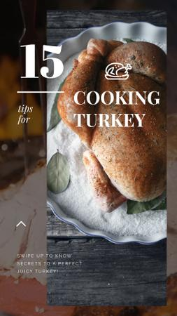 Template di design Thanksgiving Roasted whole Turkey Instagram Video Story