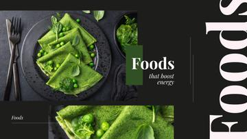 Healthy Green Pancakes on Black | Youtube Channel Art