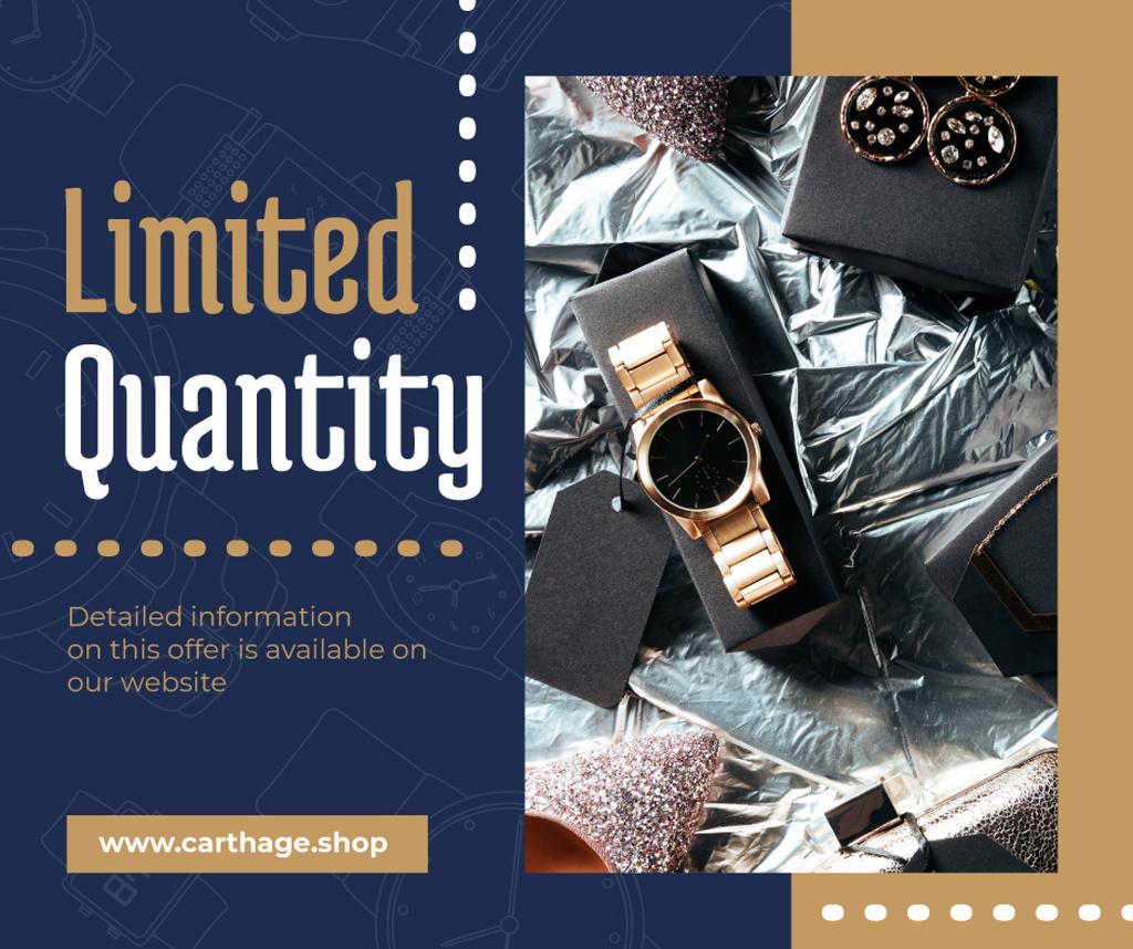 Luxury Accessories Ad with Golden Watch — ein Design erstellen