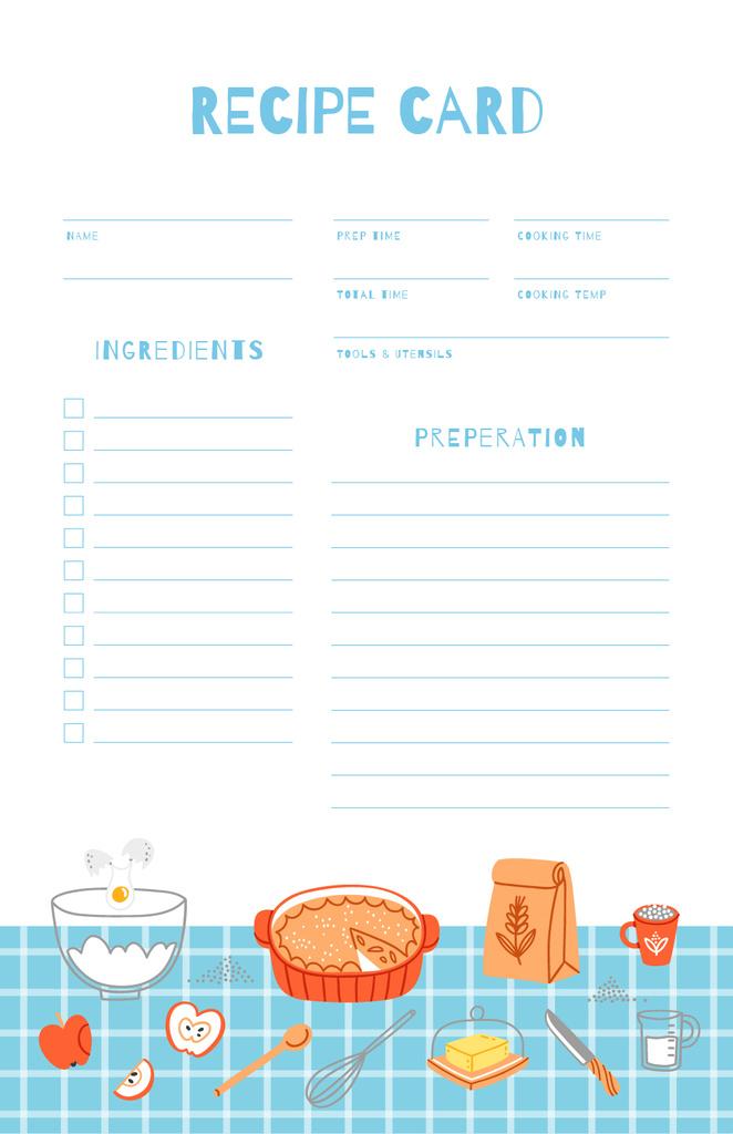 Dish Ingredients on Blue Tablecloth — Maak een ontwerp