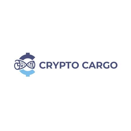 Plantilla de diseño de Crypto Currency Concept in Blue Logo