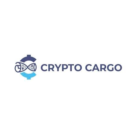Crypto Currency Concept in Blue Logo Tasarım Şablonu