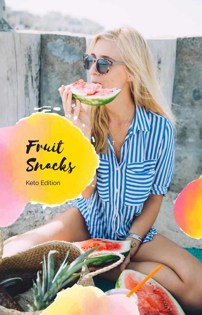 Woman eating Watermelon - Bir Tasarım Oluşturun