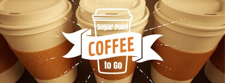 Template di design Cups with coffee-to-go in row Facebook Video cover
