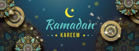 Modèle de visuel Ramadan Kareem greeting - Facebook cover