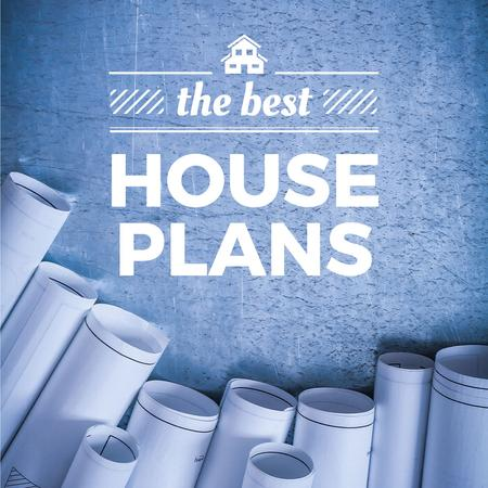 Best house plans with Blueprints Instagram Modelo de Design