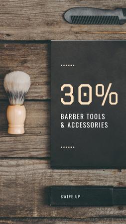 Szablon projektu Barbershop Professional Tools Sale Instagram Story