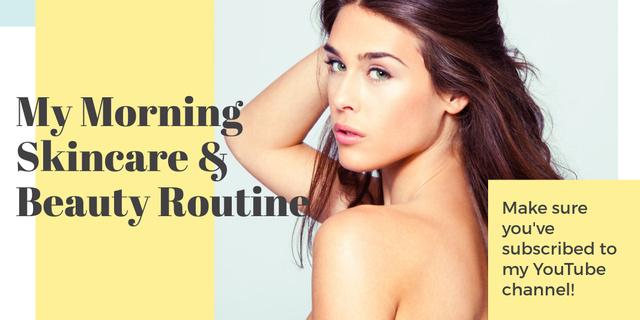 Skincare & Beauty routine channel Ad Twitter Tasarım Şablonu