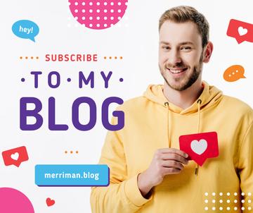 Blog Advertisement Man Holding Heart Icon