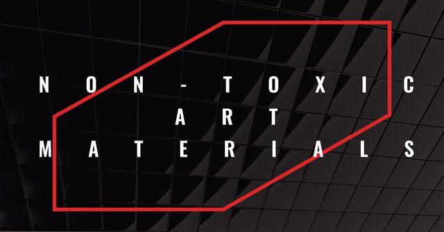 Art materials Offer on Dark glass Texture Facebook ADデザインテンプレート