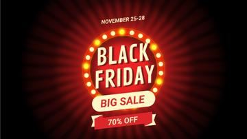 Black Friday Sale Flickering Lamps | Full Hd Video Template