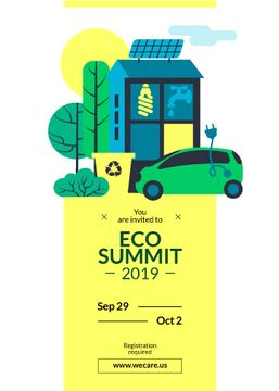 Eco Summit Invitation Sustainable Technologies | Flyer Template