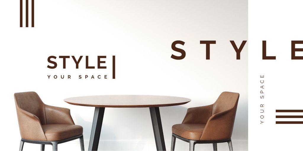 Room with modern furniture — Maak een ontwerp