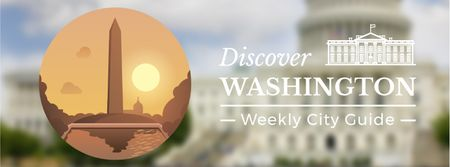Ontwerpsjabloon van Facebook Video cover van Travelling Washington icon