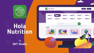 Product Hunt Healthy Nutrition App on Screen   Full Hd Video Template
