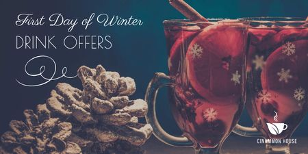 Ontwerpsjabloon van Twitter van First day of winter offers