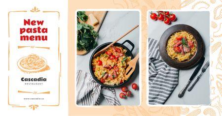 Restaurant Promotion Italian Pasta Dish Facebook AD Modelo de Design