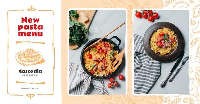 Restaurant Promotion Italian Pasta Dish Facebook AD Design Template