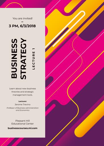 Business Event Ad On Geometric Pattern