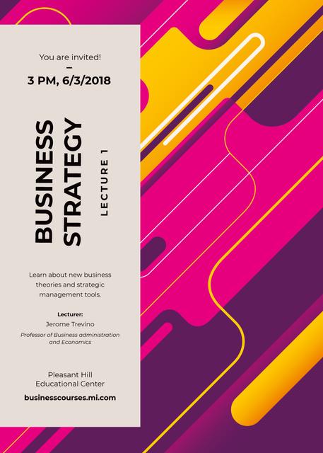Business event ad on geometric pattern Invitation Šablona návrhu