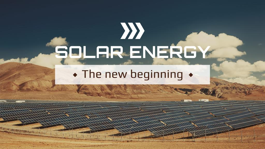 Green Energy Solar Panels in Desert | Youtube Channel Art — Créer un visuel