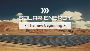 Green Energy Solar Panels in Desert | Youtube Channel Art
