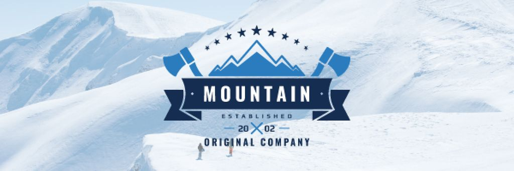 Journey Offer Mountains Icon in Blue | Email Header Template — Создать дизайн