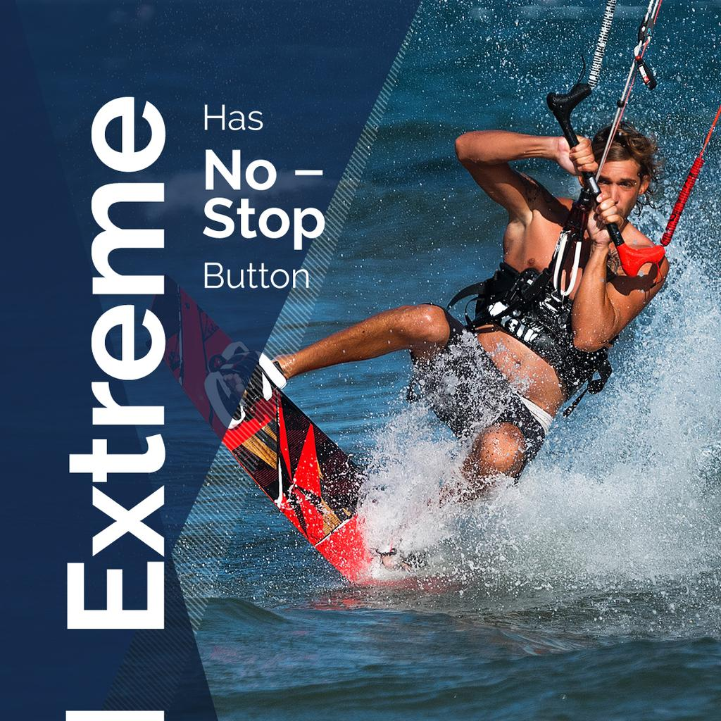 Extreme sports with Man on Water Skiing — Створити дизайн