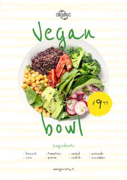 Vegan Menu Offer Vegetable Bowl | Poster Template
