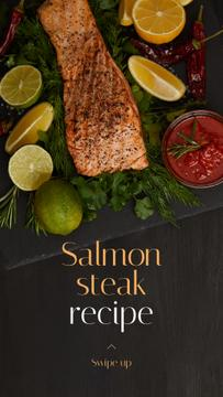 Seafood Offer raw Salmon piece