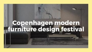 Furniture Design Festival Announcement Sofa in Grey | Youtube Channel Art