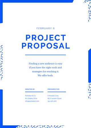 Plantilla de diseño de Website project for Business offer Proposal