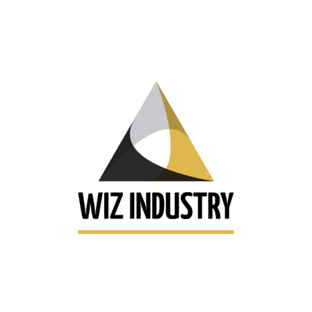 Industrial Company with Logo Triangle Icon Animated Logo – шаблон для дизайна